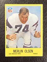 1967 Philadelphia Football Merlin Olsen Card #94 NM Los Angeles Rams
