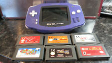 GAMEBOY ADVANCE CONSOLE GBA WITH 6 GAMES SUPER MARIO LAND ADVANCE 007 AND MORE