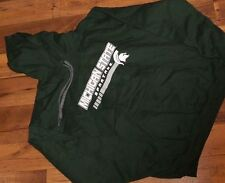 Size Large GREEN MICHIGAN STATE MSU SPARTAN HOODIE Mens New w/Tags