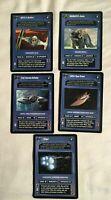 Star Wars CCG SWCCG Dark VEHICLE Card Lot STINGER TRADE BATTLESHIP OS-72-1 JABBA