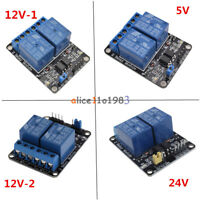 5V/12V/24V 2 Channel For PIC AVR DSP ARM Arduino Relay Module With Optocoupler