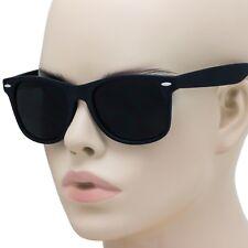 Super Dark Black Classic Retro Old School Style 80's Casual UV400 Sunglasses