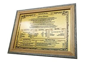 PERSONALISED BIRTHDAY GIFT - BRUSHED GOLD METAL - WITH 2-TONE GREY/PINE FRAME