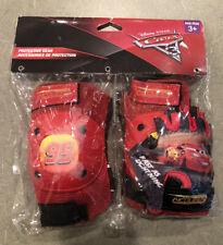 Disney Pixar Cars 95 Knee Pad Set 3+ Yrs. Red, Bicycle ,Skate New!