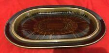 """Arabia of Finland ~ Kosmos Brown ~  Oval Serving Tray/Platter ~ 14"""""""