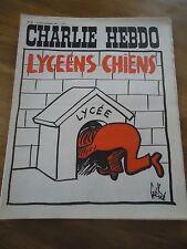 CHARLIE HEBDO N°55 LYCEENS CHIENS NICHE GEBE 6 dec 1971  Magazine ORIGINAL
