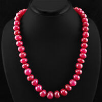 Details about  /496.00 Cts Earth Mined Red Ruby Pear Shape Faceted Real Beads Necklace NK 18E25