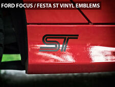 """2013 Ford Focus ST / Fiesta ST Emblems Stickers Decals """"ST"""" Logo Style 1"""