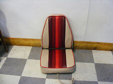 Highback Deluxe Fold-Down Seat (Tan w/ Reds)