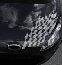 Auto Aufkleber Karos Rennflagge 2er Set Racing Flag Zielflagge Seitenaufkleber