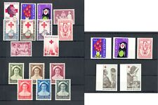 BELGIUM BELGIE RED CROSS -- 21 STAMPS--INCL. IMPERF.. ** MNH VF