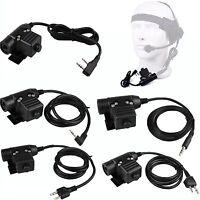 Z-Tactical U94 PTT Talk Headset Cable Adapter Kenwood Motorola Icom 1-2Pin Radio