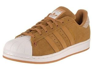 ADIDAS SUPERSTAR ORIGINAL SUEDE UNISEX MEN SZ 8 = WOMEN SZ 9.5 SHOES BROWN/W NEW