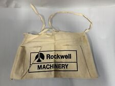 Vtg Rockwell Machinery Advertising Promo Cloth Tool Carpenter Nail Apron (A4)