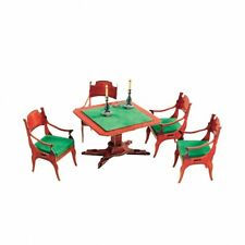 Card Table and Chairs - Home Decor Dollhouse Furniture Doll Cardboard Model Kit