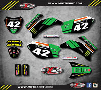 Full  Custom Graphic Kit BURNOUT STYLE - Yamaha TTR 110 - All years - stickers