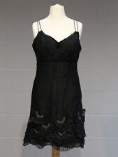 Karen Millen Cocktail Dress. Size 16. Black. Strappy, Sequins, Flared Skirt.