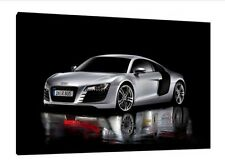 Audi R8 - 30x20 Inch Canvas - Framed Picture Print Art