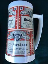 Thermo-Serv Mug Stein BUDWEISER USA! Please Check Pictures Classic Logo Design!