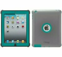 Genuine Otterbox Defender Series Case With Stand For Apple iPad 2/3/4 Gray Green