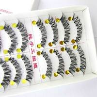 SALE! EM13A 10 pairs / box 100% handmade Messy eye lashes Cross False eyelashes