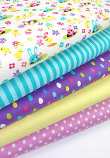 Michael Miller Fabric Spring Meadow 5FQ Bundle Easter Fabric Craft Bunting Decor