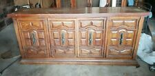 China cabinet - Solid Wood And Glass - Two Pieces  - Lighted.