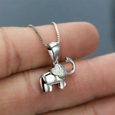 Fasion Lovely Cartoons Elephant Pendant White simulated Opal Necklace Jewelry