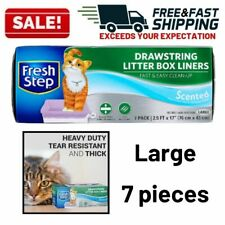 Cat Litter Box Liners Drawstring Design Super Thick Liner Fast Easy Clean Up
