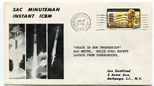 1963 Sac Minuteman Instant ICBM Solid Fuel Rocket Vandenberg SPACE NASA Missile