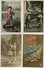 CARTE POSTALE / POSTCARD / FANTAISIE /  LOT DE 4 CARTES 1° AVRIL