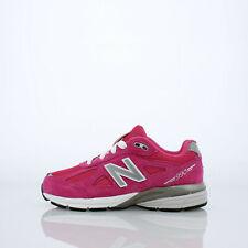 New Balance 990v4 - KJ990PEG - Hot Pink / Grey / White - Youth 5.5 = Women's 7