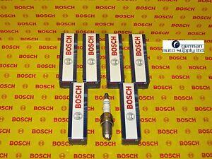 Audi - Volkswagen 6 Piece Spark Plug Set - BOSCH - 0242229654, FLR8LDCU+, 7404
