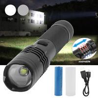 20000LM XM-L L2 U2 LED Taschenlampe Fokus Polizei Fackel Licht 18650 Ladegerät