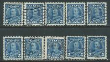 Canada #221(3) 1935 5 cent blue KING GEORGE V 10 Used