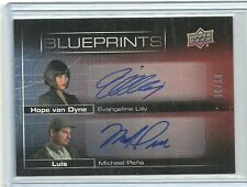 Upper Deck Ant-Man Evangeline Lilly & Michael Pina Dual Autograph Card #ed 8/ 10