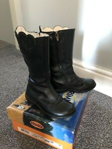 PRIMIGI Girls Black Leather Boots Size 26/8.5