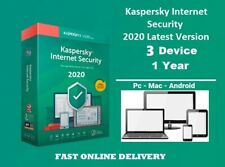 Kaspersky internet Security 2020 for 3 PC / Devices 1 Year Download Key EU