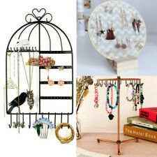 Jewelry Display Rack Earrings Necklace Stand Organizer Wall Mount Hanging Holder