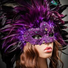 Luxury Traditional Venice Carnival Masquerade Women Venetian Mask Party Purple