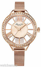 Kenneth Cole KC0009 New York Mother of Pearl Dial Rose Gold Tone Women's Watch