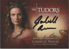 Gabrielle Anwar Breygent The Tudors autograph auto card