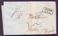 Vorphilabrief Bremen 1854 - Brief mit preussischem Rahmenstempel (488)