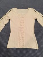 Venus Pullover Sweater Combo Lace Detail On Sleeve & Front Size Small