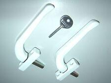 2 TITON DERWENT WHITE OFFSET RIGHT HAND LOCKING ESPAG WINDOW HANDLES ONE (1) KEY