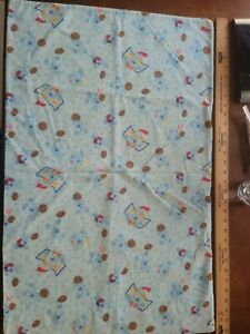 Blues Clues Flannel Pillow Case Blue All-over Print Sports Balls Hockey Warm