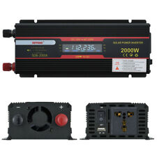 DIY Kit 2000W Car Power Inverter DC 12V to 110V 220V AC Converter LCD Display