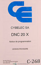 Cybelec SA DNC 20 X, Notice de Programmation, French Programming Manual 1992