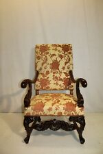 Antique French Louis XV Mahogany Great Quality Carved Chair, New Upholstery 19TH