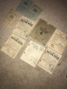 WW2 British Ration Books + Identity Cards